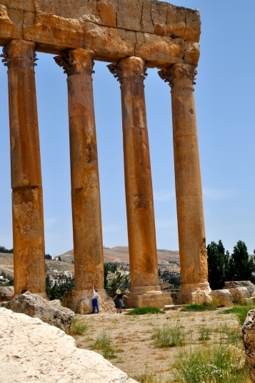 The Columns of Ba'albeck dwarf other Roman cities in the region
