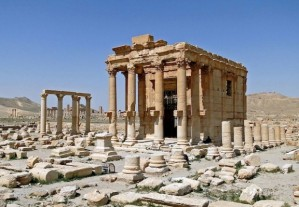 The destroyed temple of Baalshamin