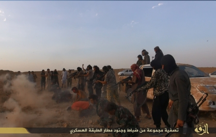 ISIS executions at Tabqa military Airbase in 2014